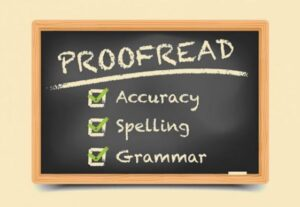 Proofreading of books